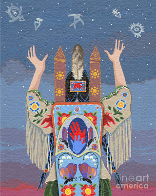 Sundance Painting - Lift Your Hands by Chholing Taha