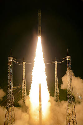 Deep Sky Photograph - Liftoff Of Vega Vv06 With Lisa by Science Source