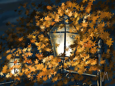 Light Among The Leaves Print by Veronica Minozzi