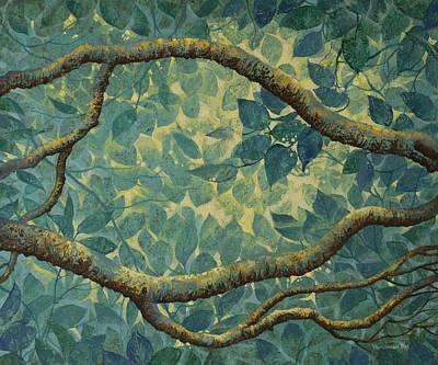 Light And Leaves Print by Vrindavan Das
