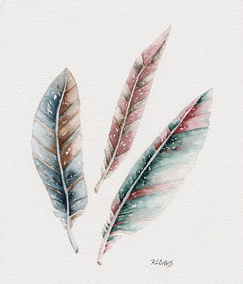 Watercolor Painting - Light As A Feather by Rebecca Davis