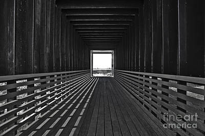 Wooden Platform Photograph - Light At The End Of The Tunnel by Lynne Sutherland
