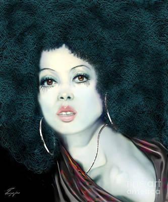 Light Blue Diana Ross-2a Print by Reggie Duffie