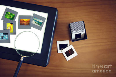 35mm Photograph - Light-box by Carlos Caetano