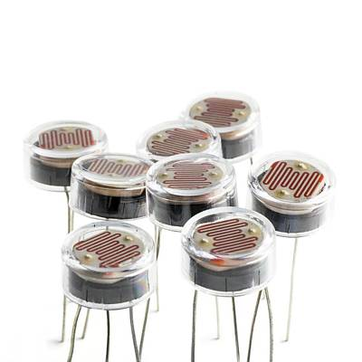 Resistor Photograph - Light Dependent Resistors by Science Photo Library