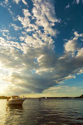 Sun Rays Digital Art - Light Fades On Lake Minnetonka by Bill Tiepelman