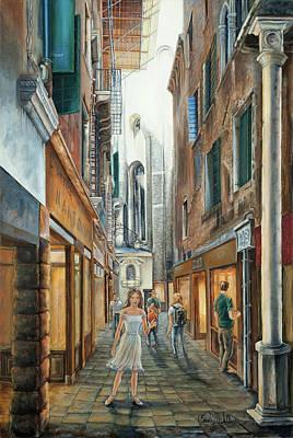Light From San Salvador Merceria Del Capitello San Marco Venezia Original by Carolyn Coffey Wallace