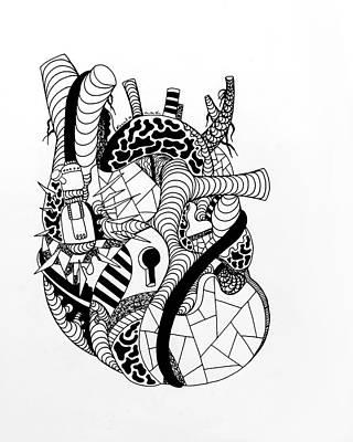 Drawing - Light Heart No. 2 by Kenal Louis