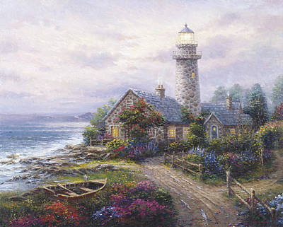 Pallet Knife Painting - Light House by Ghambaro