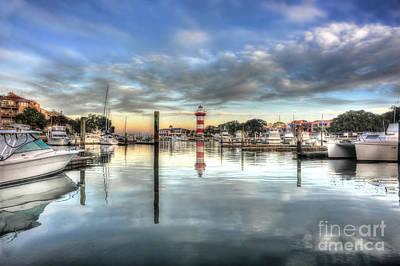 light house harbour town Hilton Head Print by Dan Friend