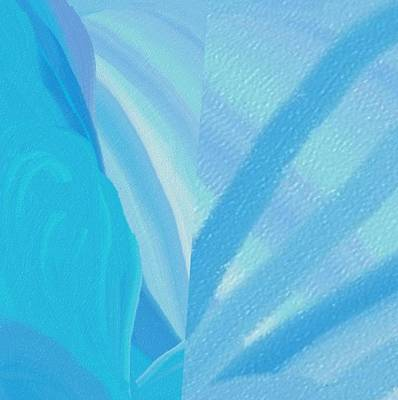Abstract Digital Art - Light Into Ice by  Alice Butera