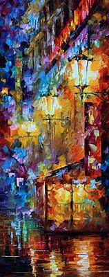 Light Of Night Print by Leonid Afremov
