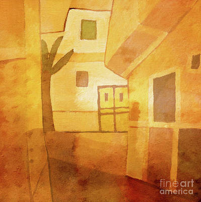 Abstract Impression Painting - Light Over Egypt by Lutz Baar