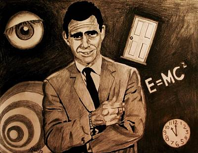 Rod Serling Drawing - Light Shadow Science And Superstition by Jeremy Moore