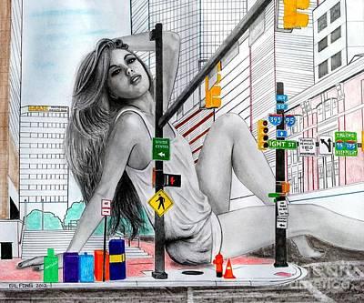 Light Street Print by Gil Fong