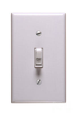 Light Switch On Print by Olivier Le Queinec