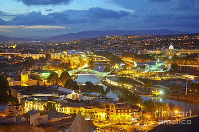 Tbilisi Photograph - Light View To Old Town Of Tbilisi by Andrey Tovstyzhenko