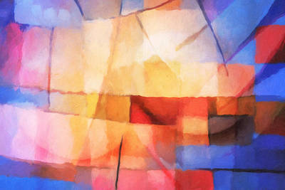 Abstract Composition Painting - Lightforces by Lutz Baar