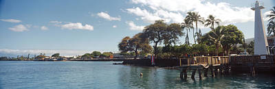 Lighthouse At A Pier, Lahaina, Maui Print by Panoramic Images