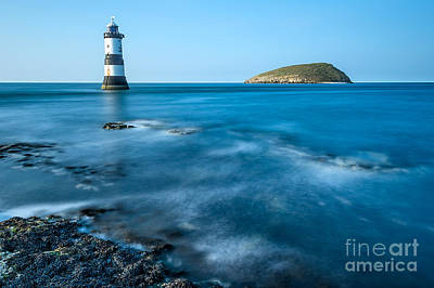 Puffin Digital Art - Lighthouse At Penmon Point by Adrian Evans