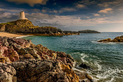 Anglesey Digital Art - Lighthouse Bay by Adrian Evans