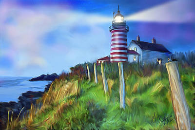 Painting - Lighthouse by Gerry Robins