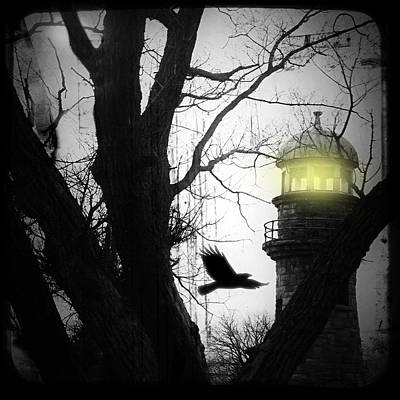 Lighthouse Print by Gothicolors Donna Snyder