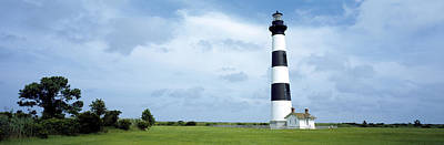 Lighthouse In A Field, Bodie Island Print by Panoramic Images