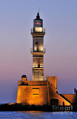 Light Photograph - Lighthouse In Chania City by George Atsametakis
