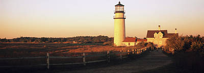 Cape Cod Photograph - Lighthouse In The Field, Highland by Panoramic Images