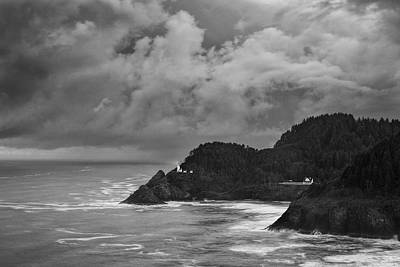 Sea Photograph - Lighthouse In The Storm by Andrew Soundarajan