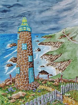Lighthouse Print by Katherine Young-Beck