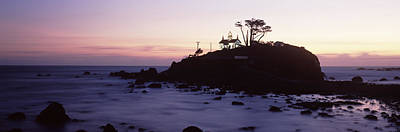 Lighthouse On A Hill, Battery Point Print by Panoramic Images