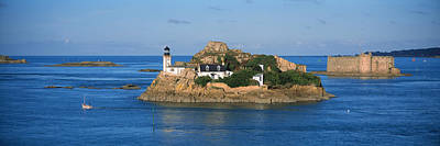 Chateau Photograph - Lighthouse On An Island, Ile Louet by Panoramic Images