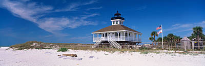 Florida State Photograph - Lighthouse On The Beach, Port Boca by Panoramic Images