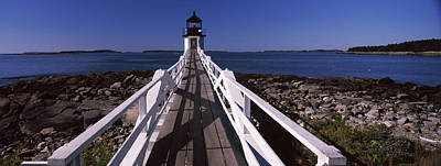 Lighthouse On The Coast, Marshall Point Print by Panoramic Images