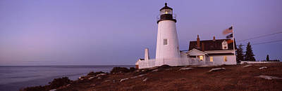 Lighthouse On The Coast, Pemaquid Point Print by Panoramic Images