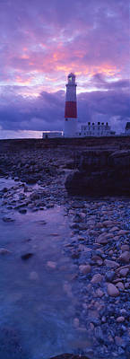 Built Structure Photograph - Lighthouse On The Coast, Portland Bill by Panoramic Images
