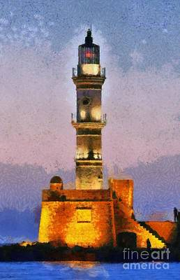 Paint Painting - Lighthouse by George Atsametakis