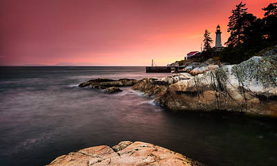 Water Filter Photograph - Lighthouse Park by Alexis Birkill