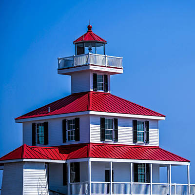 Lighthouse Pontchartrain Print by Renee Barnes