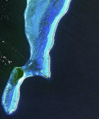 Lighthouse Reef And Belize Print by Jaxa, Esa