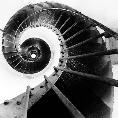 Rotate Photograph - Lighthouse Staircase by Stelios Kleanthous
