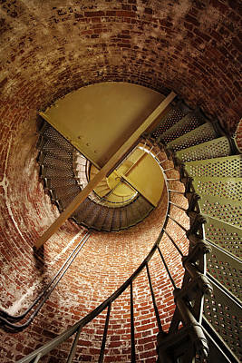 Spiral Photograph - Lighthouse Stairwell by Andrew Soundarajan