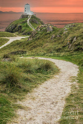 Wales Digital Art - Lighthouse Trail by Adrian Evans