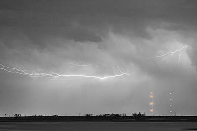 Lightning Bolting Across The Sky Bwsc Print by James BO  Insogna
