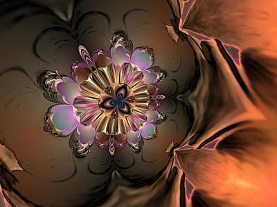 Generative Abstract Digital Art - Lightning Bug by Claude McCoy