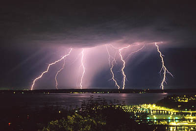 Lightning Photograph - Lightning by King Wu