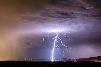 Lightning Strikes Following The Rain  Print by James BO  Insogna