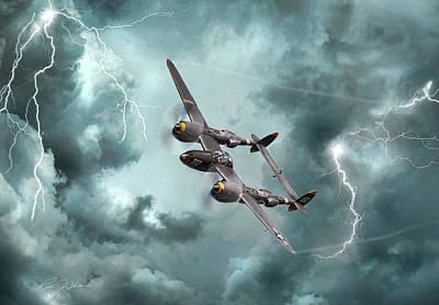 Lightning Strikes Print by Peter Chilelli
